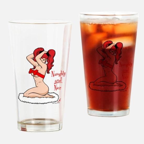 Naughty and Nice! Drinking Glass
