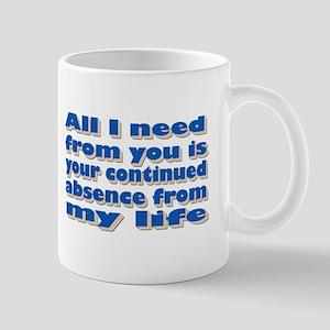 Continued Absence Mug