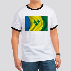 Flag of Saint Vincent and the Grenadines Ringer T
