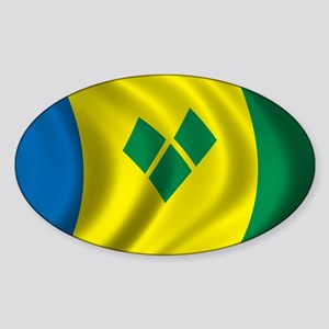 Flag of Saint Vincent and the Grenadines Sticker (