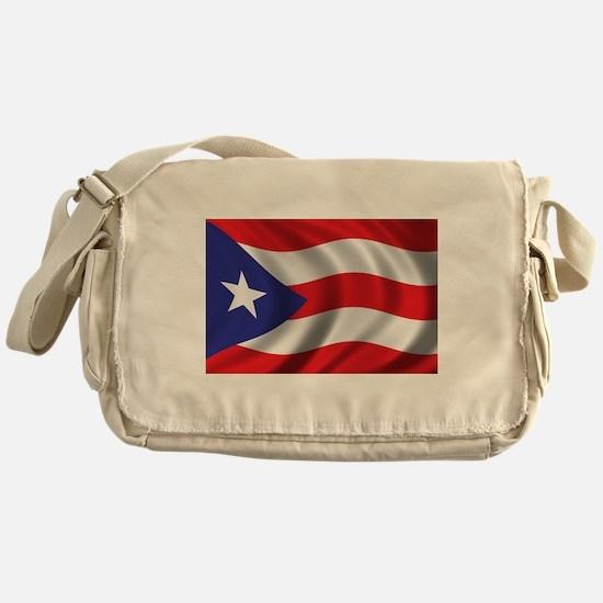 Flag of Puerto Rico Messenger Bag