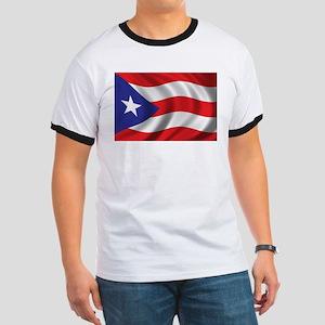 Flag of Puerto Rico Ringer T
