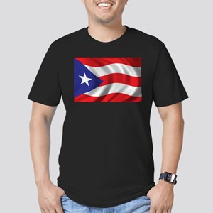 Flag of Puerto Rico Men's Fitted T-Shirt (dark)