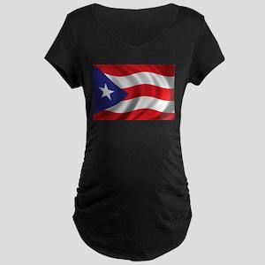 Flag of Puerto Rico Maternity Dark T-Shirt