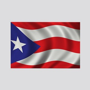 Flag of Puerto Rico Rectangle Magnet