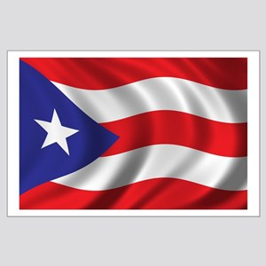 Flag of Puerto Rico Large Poster