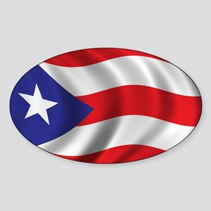 Flag of Puerto Rico Sticker (Oval)