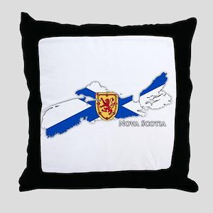 Nova Scotia Flag Throw Pillow
