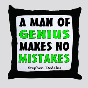 Man of Genius Throw Pillow