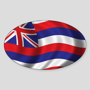 Flag of Hawaii Sticker (Oval)