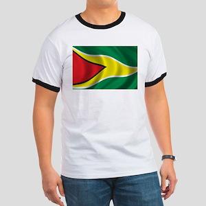 Flag of Guyana Ringer T