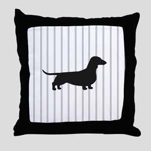 Dachshund Silhouette Throw Pillow