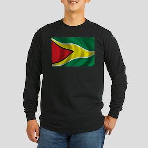 Flag of Guyana Long Sleeve Dark T-Shirt