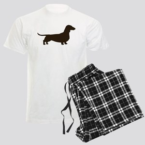 Dachshund Silhouette Men's Light Pajamas