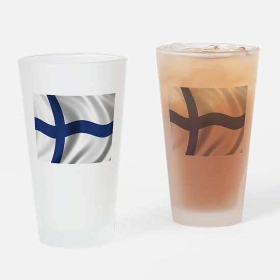 Flag of Finland Drinking Glass
