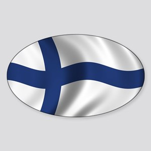 Flag of Finland Sticker (Oval)