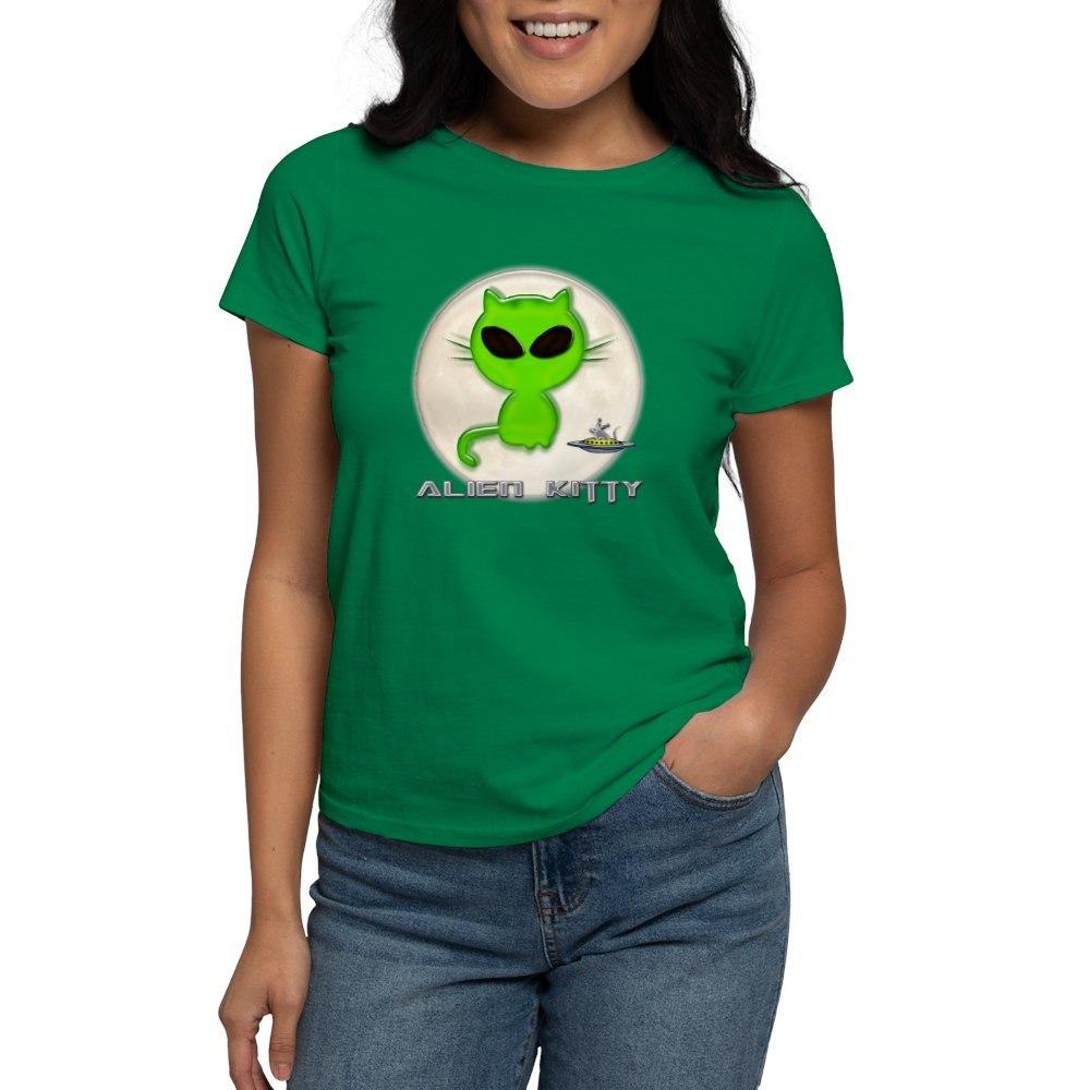 CafePress-Alien-Kitty-Women-039-s-Dark-T-Shirt-Women-039-s-Cotton-T-Shirt-598989504 thumbnail 61