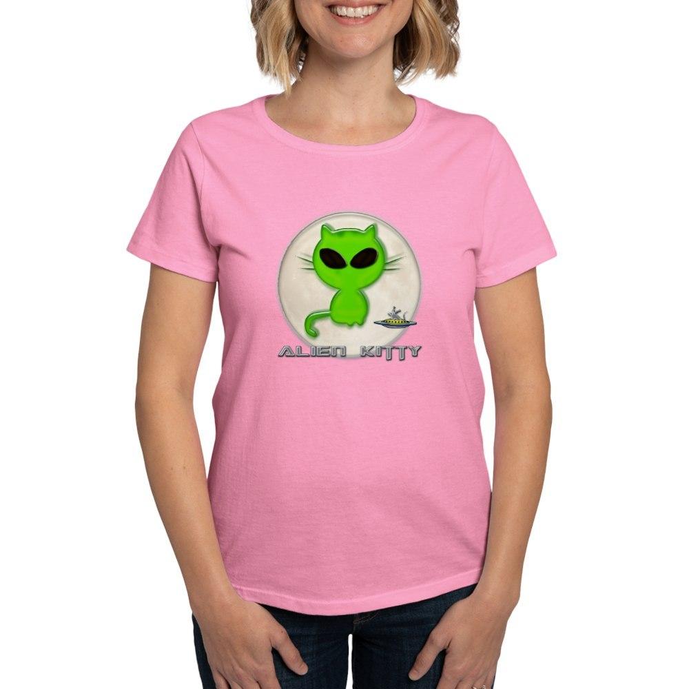 CafePress-Alien-Kitty-Women-039-s-Dark-T-Shirt-Women-039-s-Cotton-T-Shirt-598989504 thumbnail 26