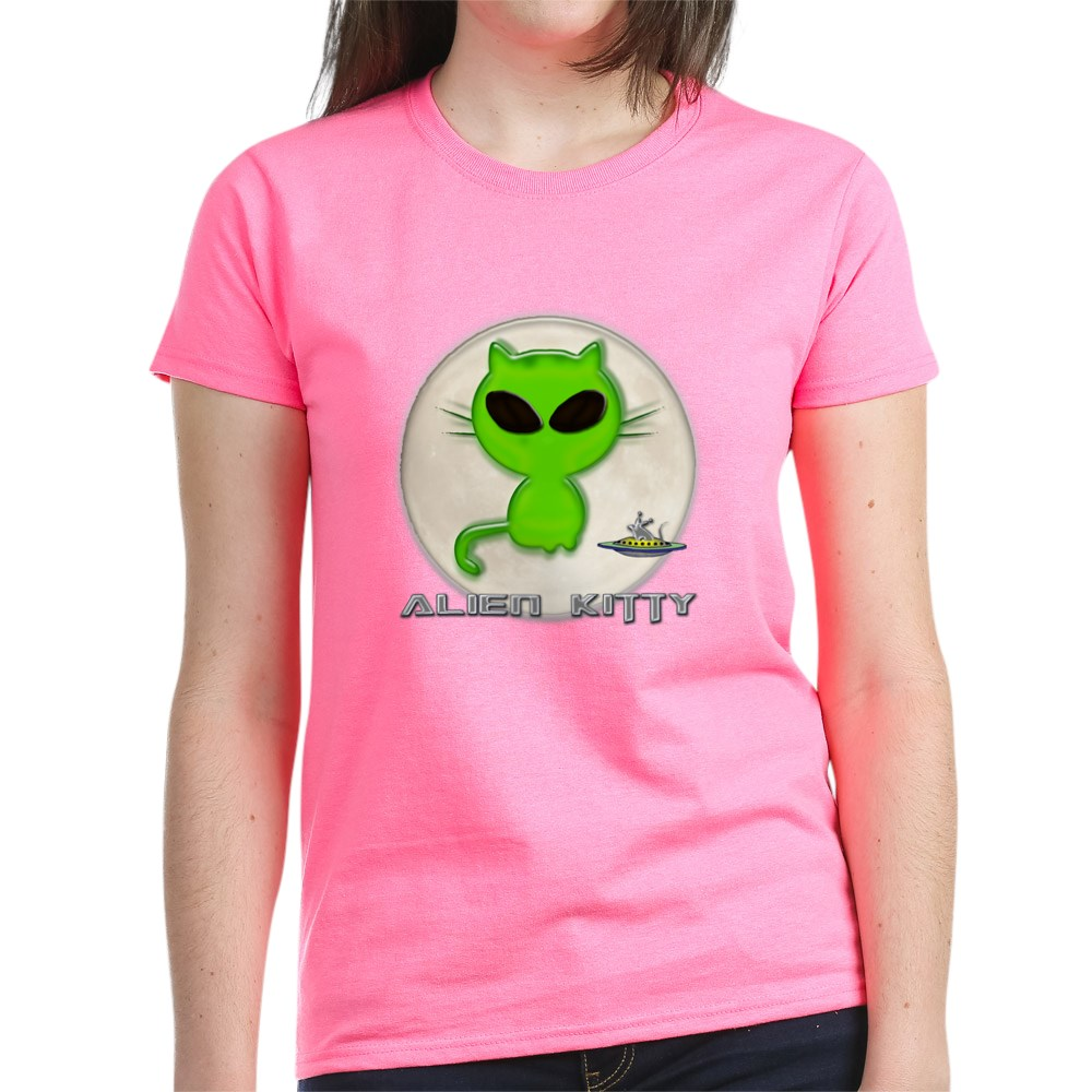CafePress-Alien-Kitty-Women-039-s-Dark-T-Shirt-Women-039-s-Cotton-T-Shirt-598989504 thumbnail 24
