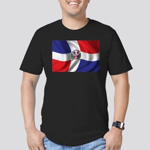 Flag of the Dominican Republic Men's Fitted T-Shir