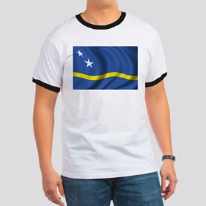 Flag of Curacao Ringer T