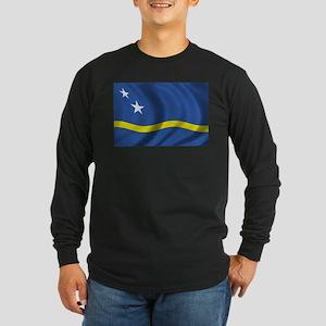 Flag of Curacao Long Sleeve Dark T-Shirt