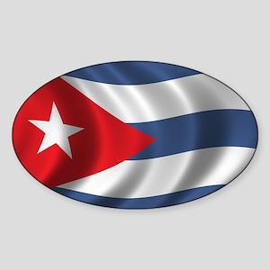 Flag of Cuba Sticker (Oval)
