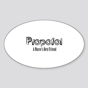 Propofol Sticker (Oval)