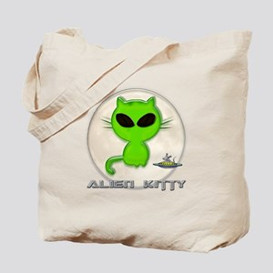alien kitty Tote Bag