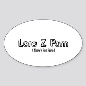 Lora Z Pam Sticker (Oval)