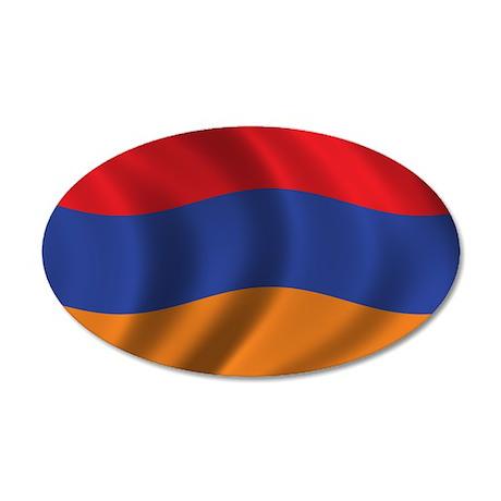 Flag of Armenia 38.5 x 24.5 Oval Wall Peel
