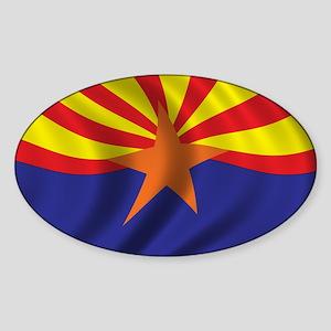 Flag of Arizona Sticker (Oval)