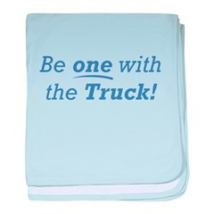 One with the Truck baby blanket