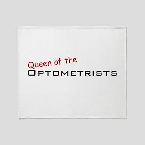 Optometrists / Queen Throw Blanket