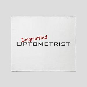 Disgruntled Optometrist Throw Blanket