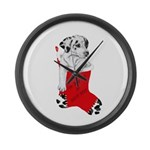 Harley Great Christmas Pup Large Wall Clock