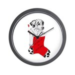 Harley Great Christmas Pup Wall Clock