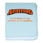 Auditing-Numbers baby blanket