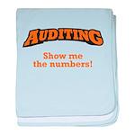 Auditing / Numbers baby blanket