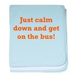 Get on the Bus baby blanket