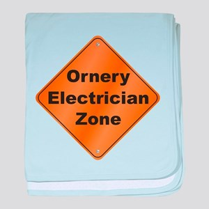 Ornery Electrician baby blanket