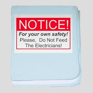 Notice / Electrician baby blanket