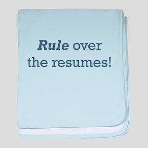 Rule / Resumes baby blanket