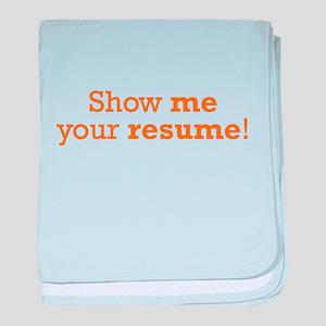 Show me / Resume baby blanket