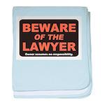 Beware / Lawyer baby blanket