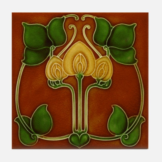 A Trio of Flowers Tile Coaster