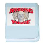 Nursing Pirate baby blanket