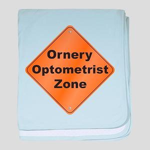 Ornery Optometrist baby blanket