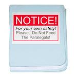 Notice / Paralegals baby blanket