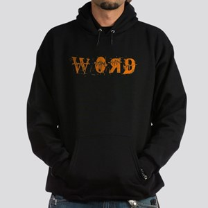 Orange Word Hoodie (dark)